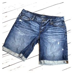 Loft jean shorts sz 4 denim Bermuda